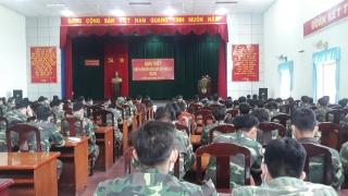 Thành phố Tây Ninh và huyện Tân Biên tổ chức quán triệt nhiệm vụ huấn luyện quân nhân dự bị năm 2021