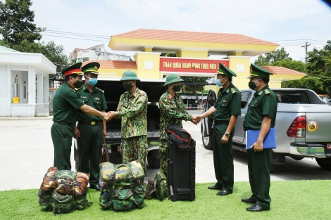 Biên phòng Tây Ninh: Tiếp nhận, giao nhiệm vụ cho cán bộ, chiến sĩ Quân khu 7 chi viện