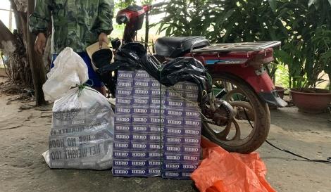 Đồn biên phòng Tân Hà: Một đêm bắt giữ hai vụ buôn lậu thuốc lá