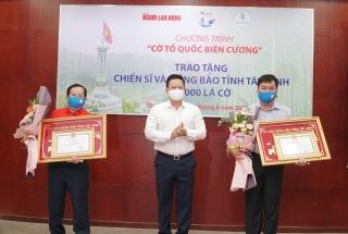 Tặng 10.000 lá cờ Tổ quốc cho đồng bào, chiến sĩ vùng biên giới Tây Ninh