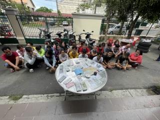 Công an huyện Gò Dầu: tạm giữ 25 người liên quan đến đánh bạc và tổ chức đánh bạc