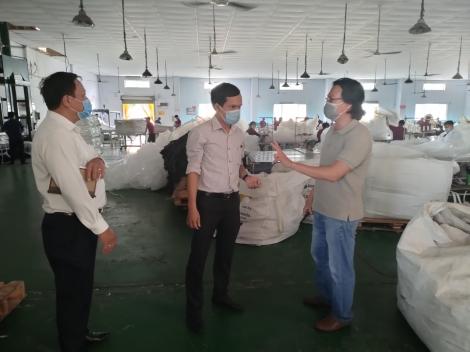 Ban Quản lý Khu kinh tế tỉnh kiểm tra việc thực hiện các giải pháp phòng, chống dịch Covid – 19 tại Khu công nghiệp Trảng Bàng