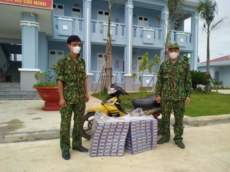 Đồn Biên phòng Tân Hà: Ngăn chặn 2 vụ vận chuyển thuốc lá lậu từ Campuchia vào Việt Nam