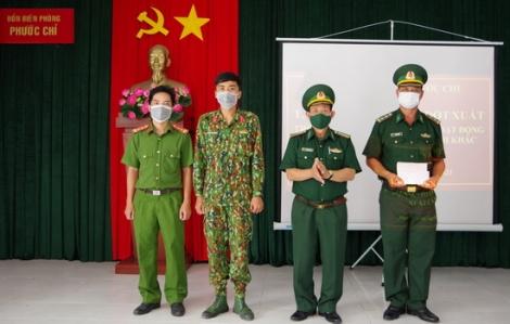 Bộ Chỉ huy BĐBP tỉnh thưởng nóng Đồn BP Phước Chỉ có thành tích xuất sắc trong chống xuất, nhập cảnh trái phép