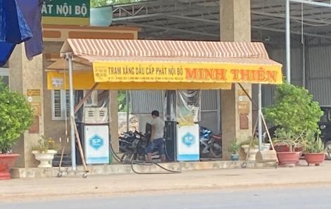 Trạm xăng dầu nội bộ nhưng bán cho phương tiện bên ngoài