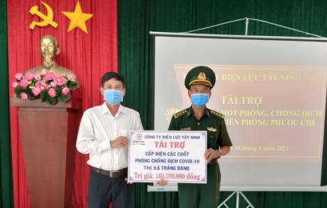 Điện lực Tây Ninh: Tài trợ cấp điện cho các chốt phòng, chống dịch Covid- 19 trên tuyến biên giới thị xã Trảng Bàng