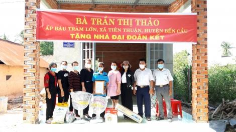 Xã Tiên Thuận trao tặng 1 căn nhà đại đoàn kết