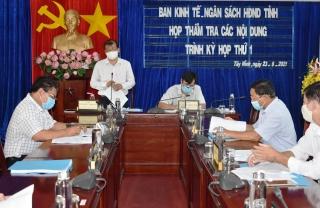 Ban Kinh tế - Ngân sách HĐND tỉnh họp thẩm tra các nội dung trình kỳ họp thứ 1, HĐND tỉnh Khóa X