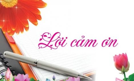 Lời cám ơn của Hội Nhà báo tỉnh Tây Ninh