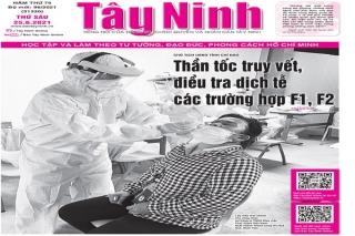 Điểm báo in Tây Ninh ngày 25.06.2021