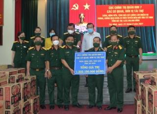 Thăm, tặng quà lực lượng làm nhiệm vụ phòng, chống dịch Covid-19 trên tuyến biên giới tỉnh Tây Ninh