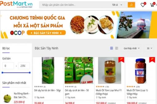Sàn thương mại điện tử: Kích cầu tiêu thụ sản phẩm OCOP