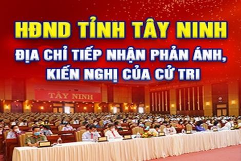Hội đồng Nhân dân tỉnh: Thông báo địa chỉ tiếp nhận ý kiến của cử tri