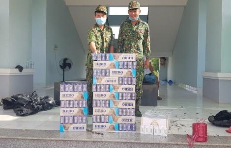 Đồn biên phòng Vàm Trảng Trâu: Bắt giữ 1.800 gói thuốc lá lậu trên biên giới