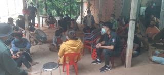 Triệt xóa tụ điểm đánh bạc ở xã Phước Vinh, huyện Châu Thành
