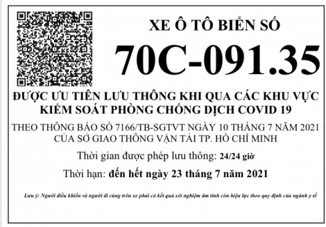 Sở GTVT: Hướng dẫn hàng hóa lưu thông trong thời gian thành phố Hồ Chí Minh thực hiện Chỉ thị 16/CT-TTg