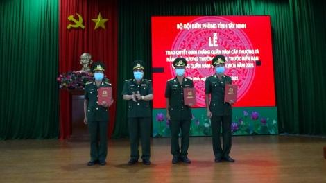 Bộ đội Biên phòng tỉnh: Trao Quyết định thăng quân hàm sĩ quan và Quân nhân chuyên nghiệp năm 2021
