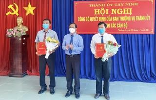 Thành ủy Tây Ninh công bố quyết định về công tác cán bộ