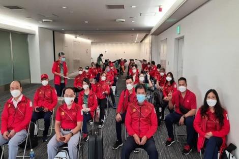 Đoàn thể thao Việt Nam đến Nhật Bản