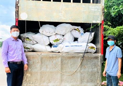 Hỗ trợ hơn 4 tấn nông sản cho người dân trong vùng dịch ở TP. Hồ Chí Minh