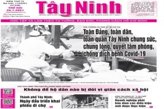 Điểm báo in Tây Ninh ngày 26.07.2021