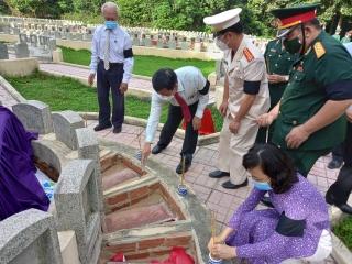 Huyện Tân Biên tổ chức lễ truy điệu và an táng 5 hài cốt liệt sỹ tại nghĩa trang Tân Biên (Đồi 82)