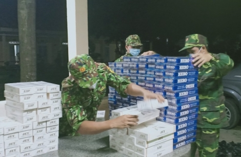 Biên phòng Tây Ninh: Bắt giữ vụ buôn lậu 1.800 gói thuốc lá ngoại trên biên giới