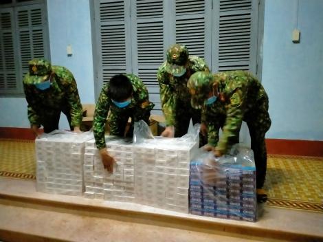 Biên phòng Tây Ninh: Bắt giữ hàng ngàn gói thuốc lá ngoại, ngăn chặn một vụ nhập cảnh trái phép