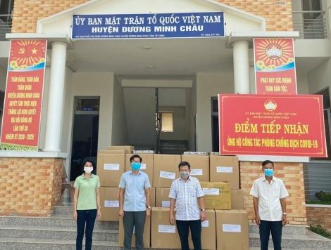 Nhiều tổ chức, cá nhân hỗ trợ vật tư, nhu yếu phẩm cho công tác chống dịch ở huyện Dương Minh Châu