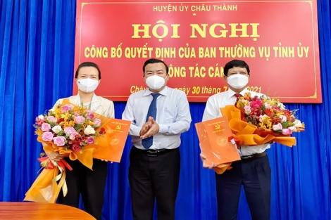 Phó Bí thư Thường trực Tỉnh uỷ Phạm Hùng Thái trao quyết định về công tác cán bộ tại huyện Châu Thành