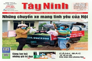Điểm báo in Tây Ninh ngày 31.07.2021