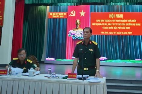 Hội nghị rút kinh nghiệm về nhiệm vụ quân sự, quốc phòng và công tác phòng, chống dịch covid-19