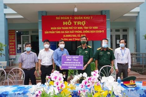 Sư đoàn 5: Hỗ trợ rau, củ, quả cho nhân dân thành phố Tây Ninh