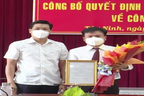 Bổ nhiệm Phó Chánh Văn phòng Tỉnh uỷ Tây Ninh