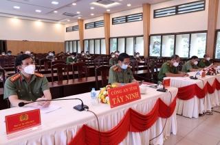 Công an Tây Ninh: Hội nghị trực tuyến công tác Công an 8 tháng năm 2021
