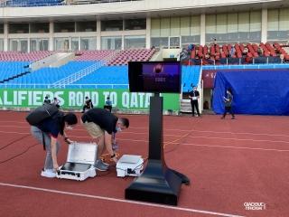 Cận cảnh công nghệ VAR trên sân Mỹ Đình trước giờ bóng lăn