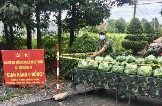 Đại đội bộ binh 40 Châu Thành: Tích cực tham gia phòng, chống dịch Covid-19