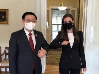 Chủ tịch Quốc hội Vương Đình Huệ hội kiến Thủ tướng Phần Lan Sanna Marin