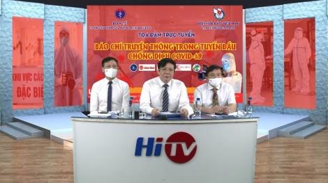 """Hội Nhà báo Việt Nam: Tọa đàm trực tuyến """"Báo chí truyền thông trong tuyến đầu chống dịch Covid-19"""""""