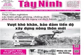 Điểm báo in Tây Ninh ngày 20.09.2021