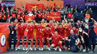 Hôm nay, ĐT Futsal Việt Nam lên đường về nước sau kỳ tích World Cup