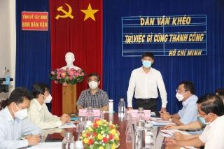 Phó trưởng Ban Dân vận Trung ương Nguyễn Phước Lộc làm việc tại Tây Ninh