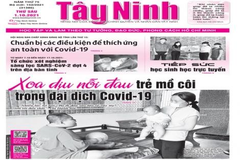 Điểm báo in Tây Ninh ngày 01.10.2021