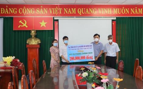 Sở Y tế tiếp nhận vật tư y tế hỗ trợ phòng, chống dịch Covid-19
