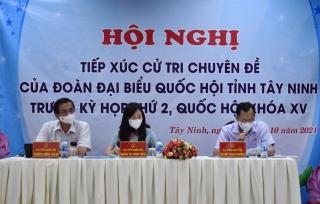 Tiếp xúc cử tri chuyên đề trước kỳ họp thứ 2, Quốc hội khóa XV