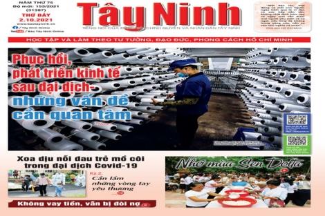 Điểm báo in Tây Ninh ngày 02.10.2021
