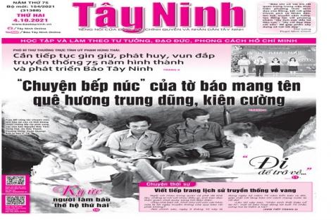 Điểm báo in Tây Ninh ngày 04.10.2021