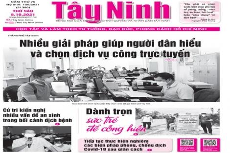 Điểm báo in Tây Ninh ngày 08.10.2021