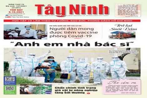 Điểm báo in Tây Ninh ngày 09.10.2021