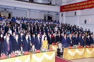 Đồng chí Trương Thị Mai, Ủy viên Bộ Chính trị, Bí thư Trung ương Đảng, Trưởng Ban Tổ chức Trung ương dự Lễ kỷ niệm 110 năm Ngày sinh đồng chí Lê Đức Thọ (10-10-1911 - 10-10-2021)